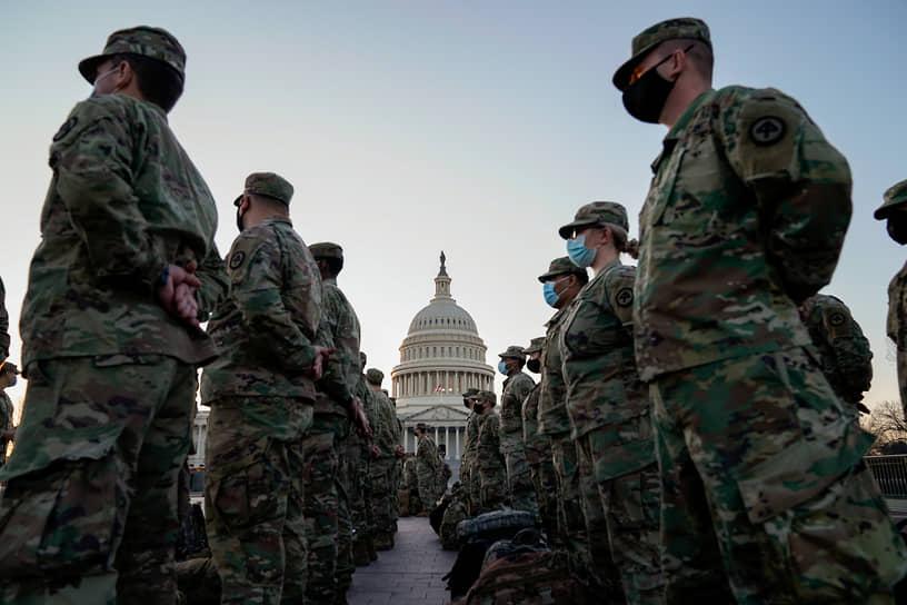 В Вашингтон прибывают новые отряды гвардейцев, которые будут следить за порядком во время инаугурации