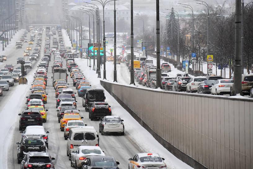 Пробки в городе достигли 8 баллов
