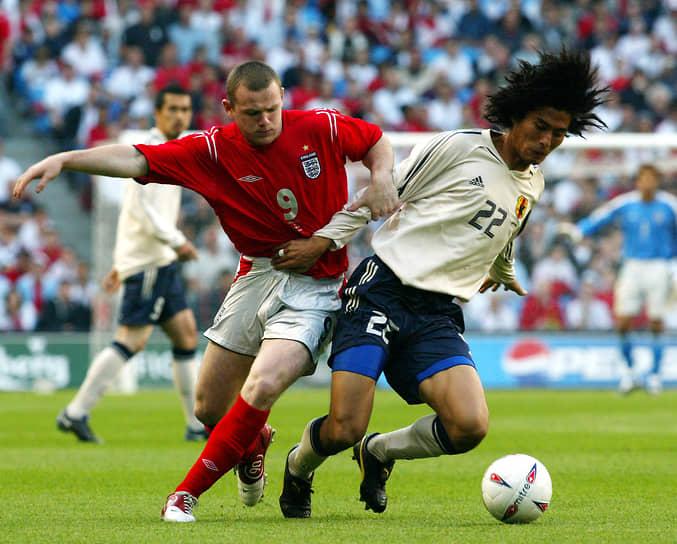 За национальную команду Руни начал выступать в 2003 году, став самым молодым дебютантом сборной Англии
