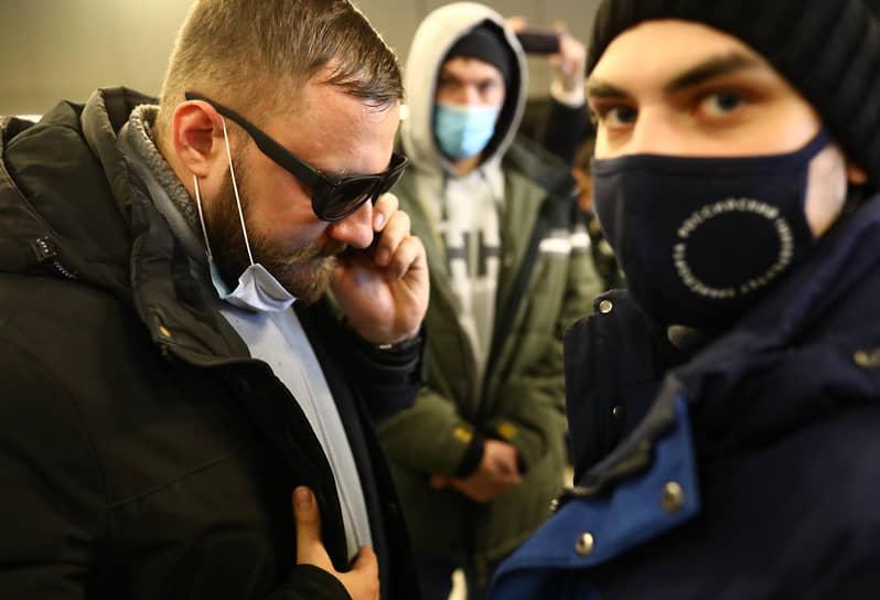 Сторонники Алексея Навального во Внуково