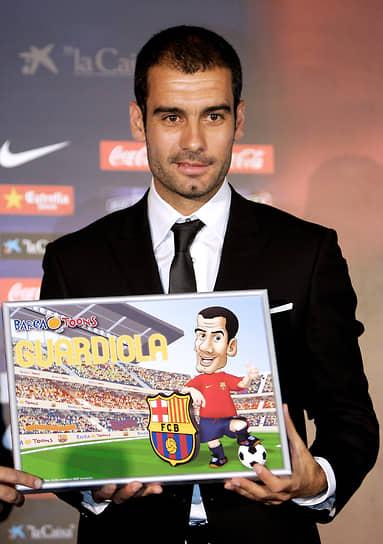 В 2001 году Гвардиола покинул «Барселону», перебравшись в Италию («Рома», «Брешиа»), позже играл в Катаре и Мексике. В 2006 году он закончил карьеру игрока, после чего стал тренером