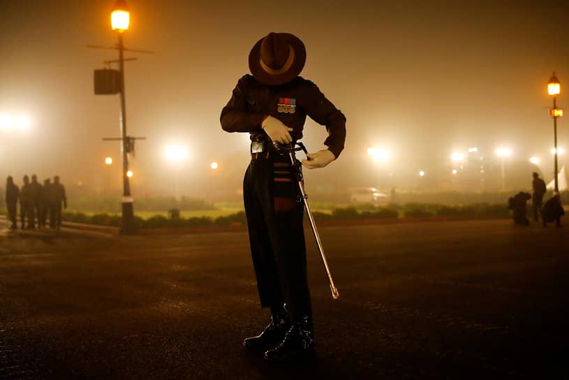 Нью-Дели, Индия. Репетиция парада ко Дню республики