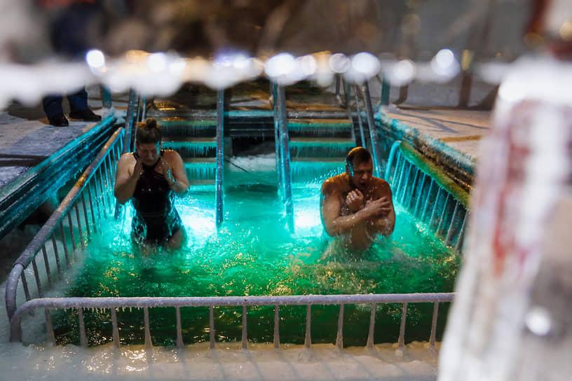 Крещенские купания в Балашихе Московской области