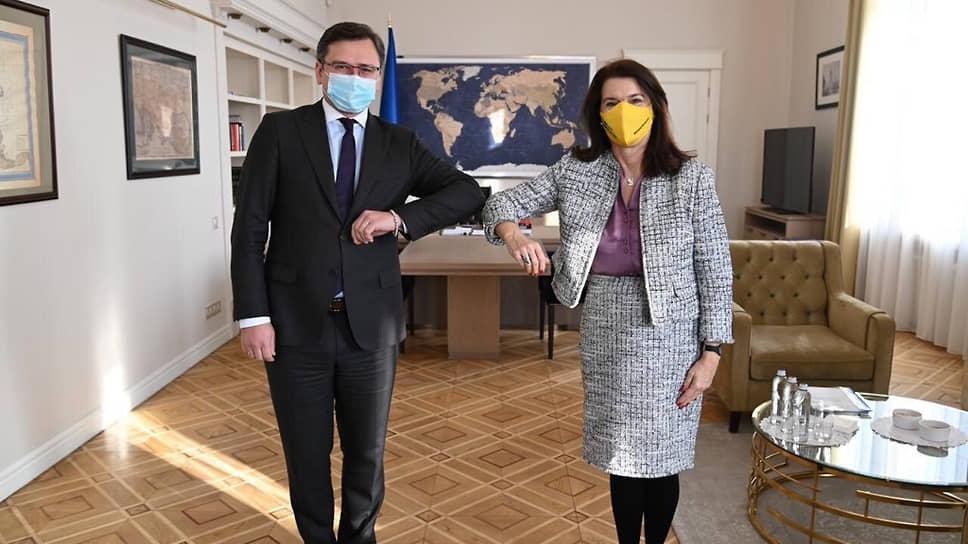 Министр иностранных дел Украины Дмитрий Кулеба и министр иностранных дел Швеции Анн Линде