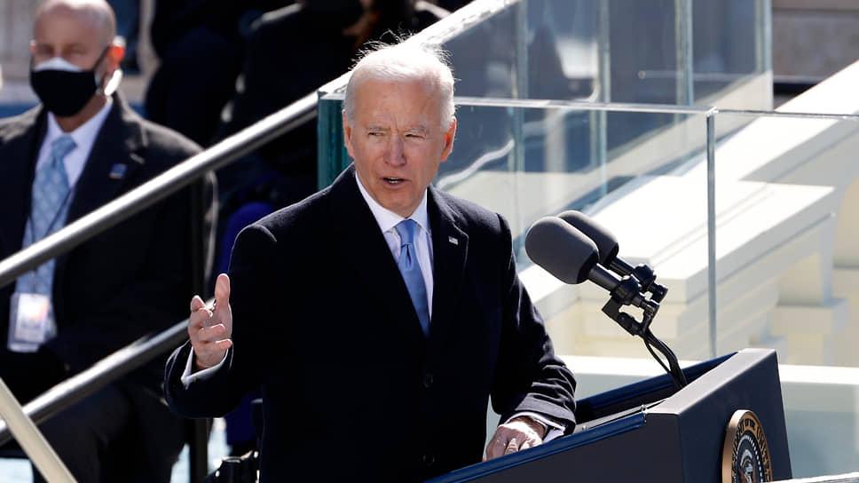 Новый президент Америки Джо Байден во время инаугурации