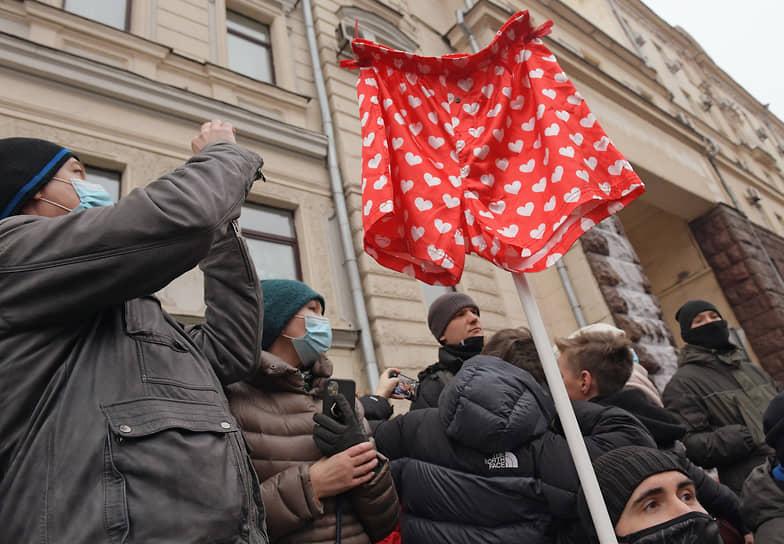 Участники митинга в поддержку Алексея Навального