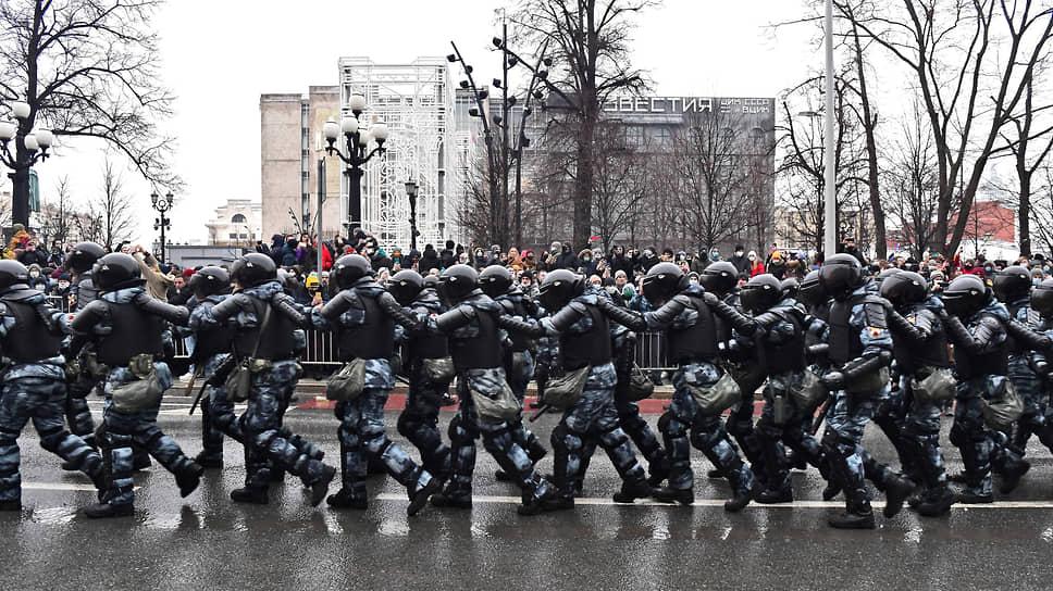 Сотрудники Росгвардии  на Пушкинской площади