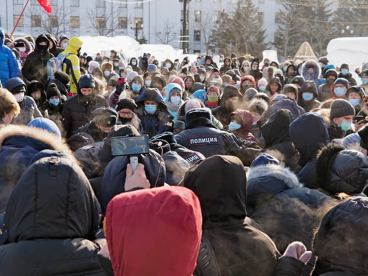 В Хабаровске были задержаны около 40 человек
