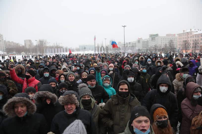 Митинг в поддержку политика Алексея Навального в Перми
