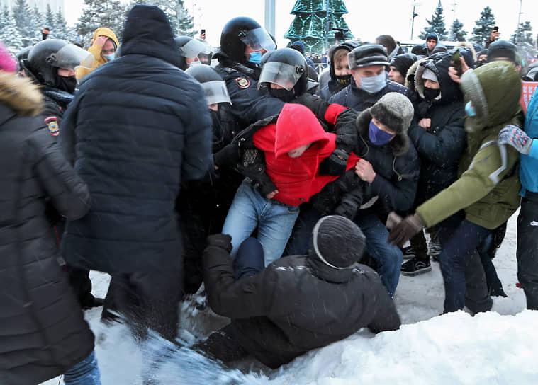 Шествие и митинг в поддержку Алексея Навального в Самаре