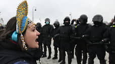 Митинг в поддержку Алексея Навального на Сенатской площади в Санкт-Петербурге