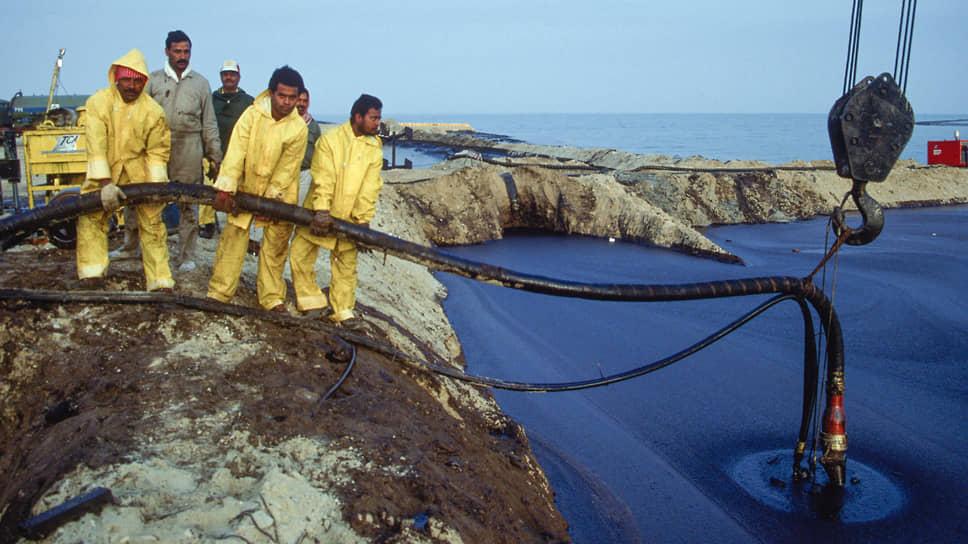 Нефтяное загрязнение затронуло и побережье соседней с Кувейтом Саудовской Аравии