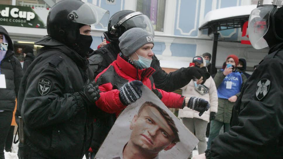 Задержание участника акции в Нижнем Новгороде
