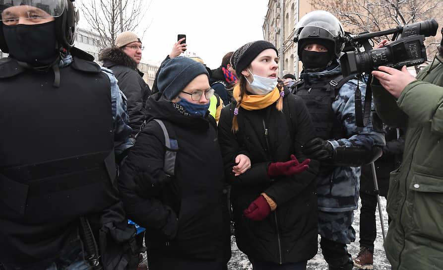Задержание участников акции протеста в Москве
