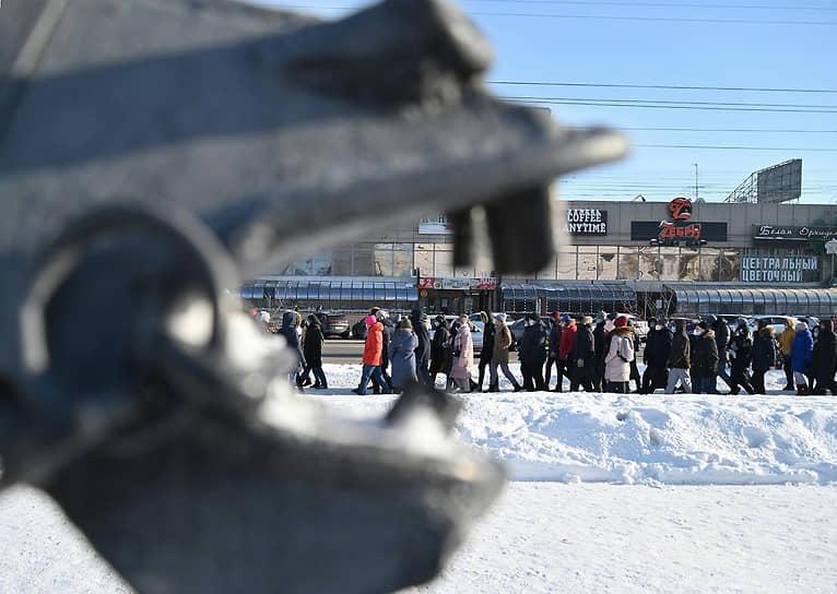 Участники акции в Омске