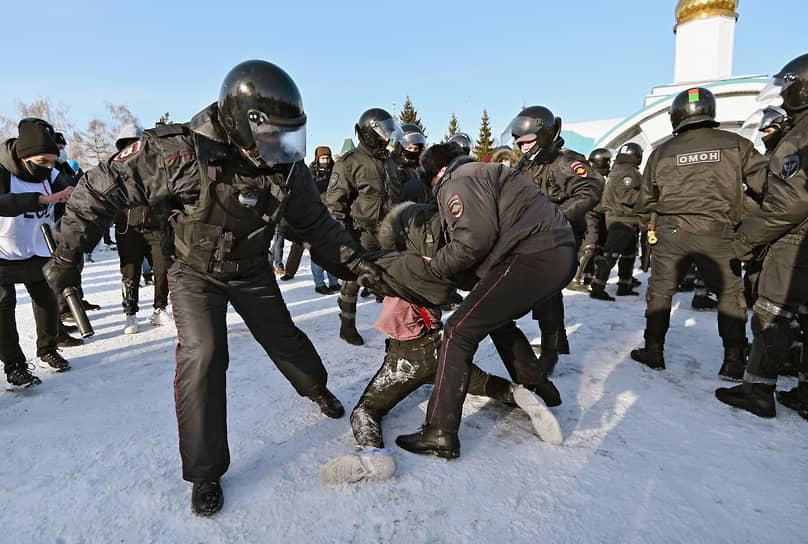 В Омске на акцию собрались около 1 тыс. человек