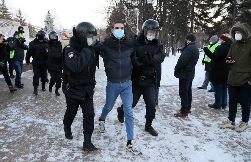 Задержание участника акции протеста в Самаре