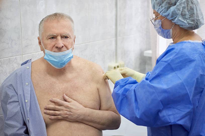 2 сентября 2020 года лидер партии ЛДПР Владимир Жириновский  привился от коронавируса. Он стал одним из добровольцев в пострегистрационных испытаниях российской вакцины «Спутник V»