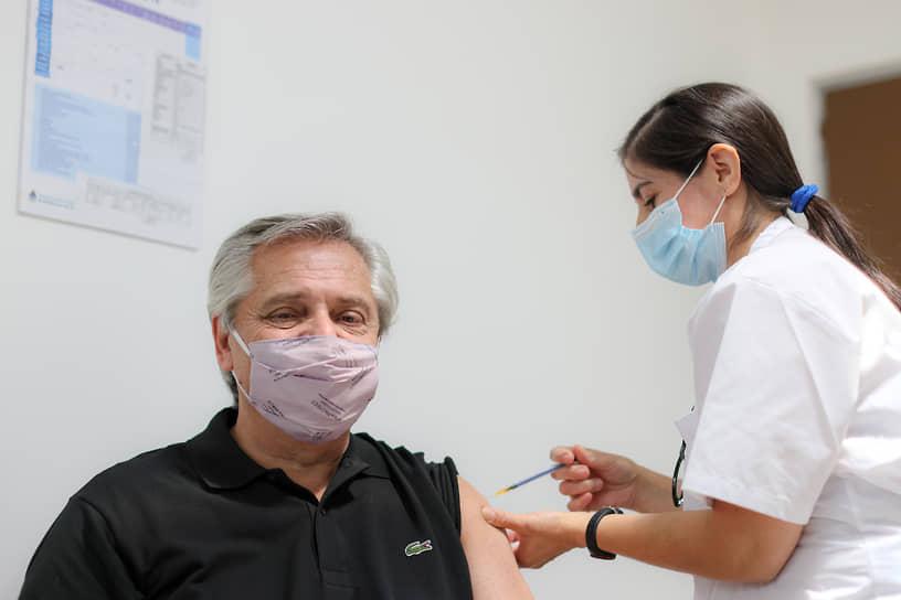 21 января президент Аргентины Альберто Фернандес сделал прививку от коронавирусной инфекции российской вакциной «Спутник V»