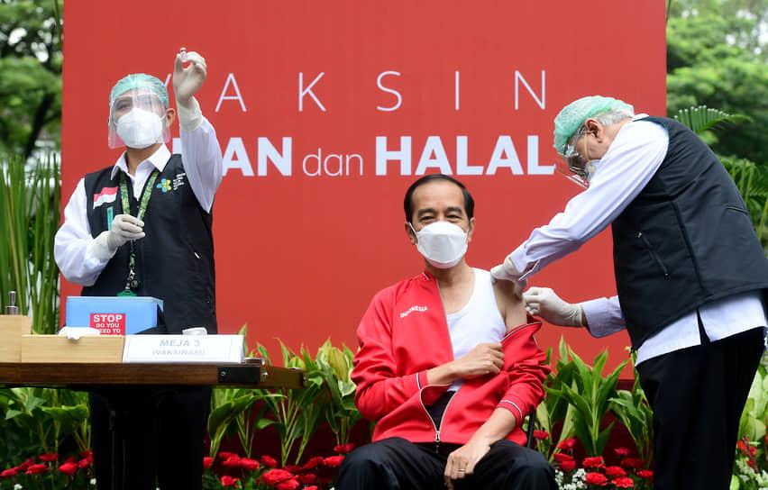 13 января президент Индонезии Джоко Видодо получил первую дозу вакцины китайской биофармацевтической компании Sinovac