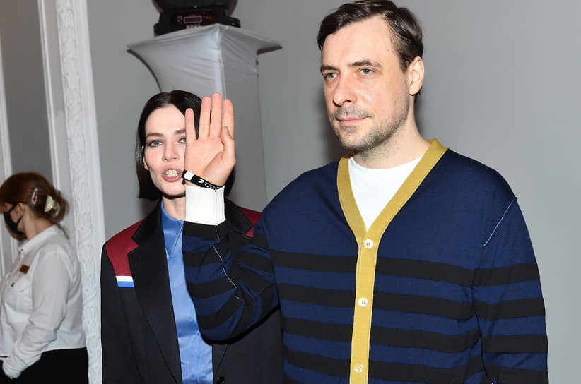 Актеры Юлия Снигирь и Евгений Цыганов на премьере фильма «Кто-нибудь видел мою девчонку?» в кинотеатре «Иллюзион»
