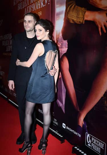 Актеры Дмитрий Ендальцев и Анна Чиповская на премьере фильма «Кто-нибудь видел мою девчонку?» в кинотеатре «Иллюзион»