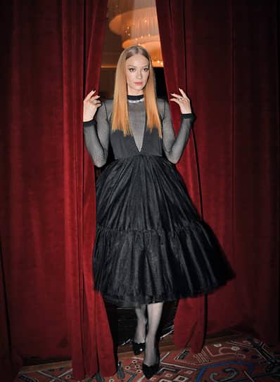 Актриса Светлана Ходченкова на премьере фильма Ренаты Литвиновой «Северный ветер» в кинотеатре «Художественный»