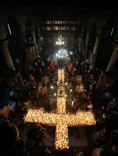 Благоевград, Болгария. Православные чтят память святого Харалампия