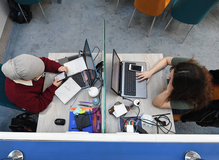 Москва. Студенты Российского университета дружбы народов во время занятий