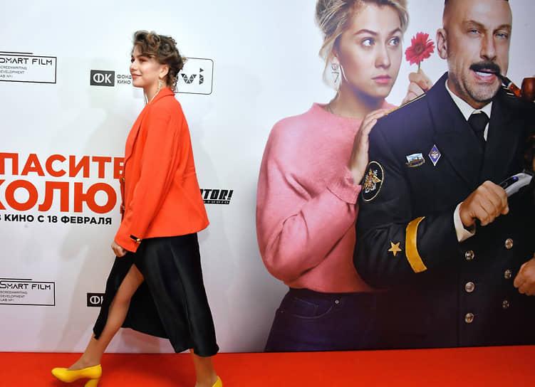 Актриса Анна Родная на премьере фильма режиссера Дмитрия Губарева «Спасите Колю!» в кинотеатре «Каро 11 Октябрь»