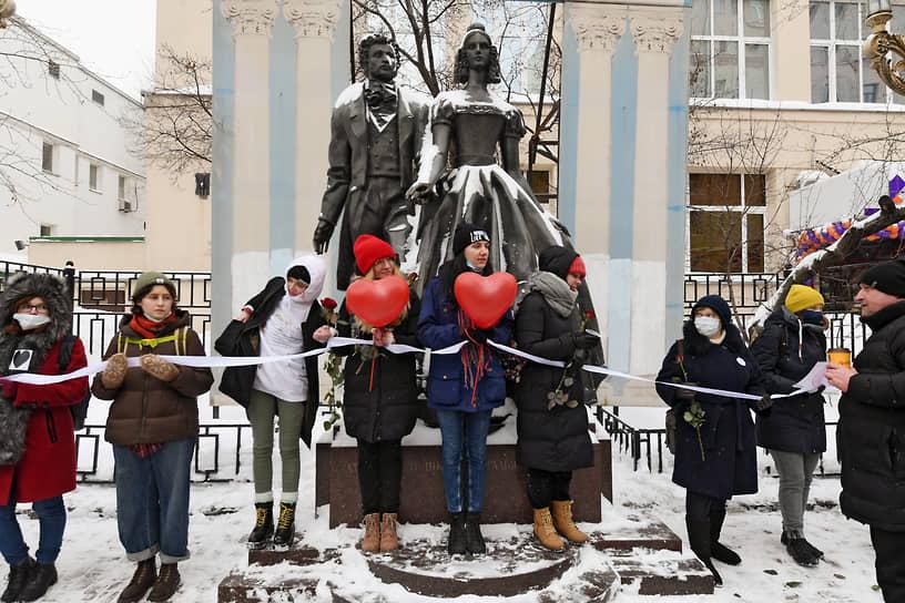 Акция в Москве началась в 14:00 и продлилась примерно до 16 часов
