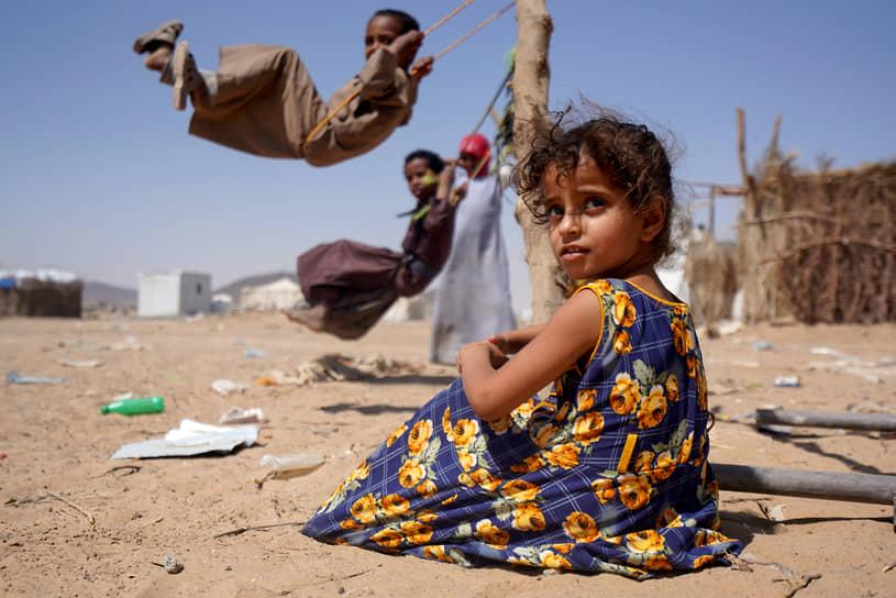 Мариб, Йемен. Дети в лагере для беженцев