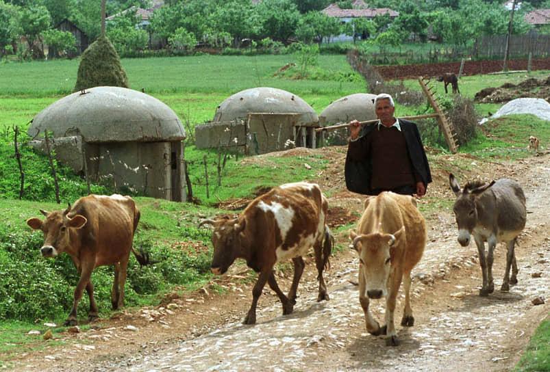 Бетонные бункеры, построенные в эпоху Ходжи, можно встретить в любом уголке Албании