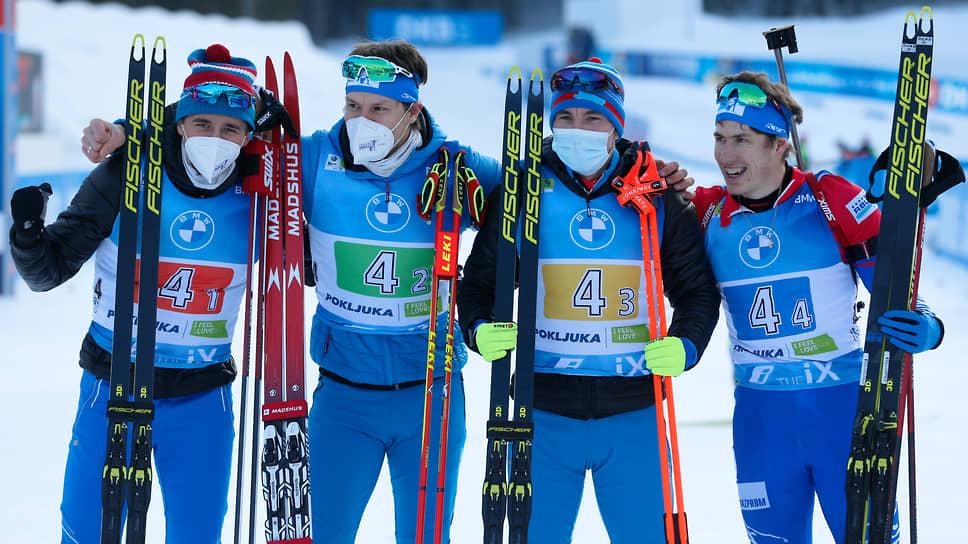 Слева направо: Карим Халили, Матвей Елисеев, Александр Логинов и Эдуард Латыпов