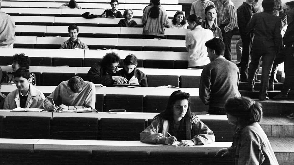 Аудитория Московского государственного университета им. Ломоносова, который закончил Петр Авен в 1977 году