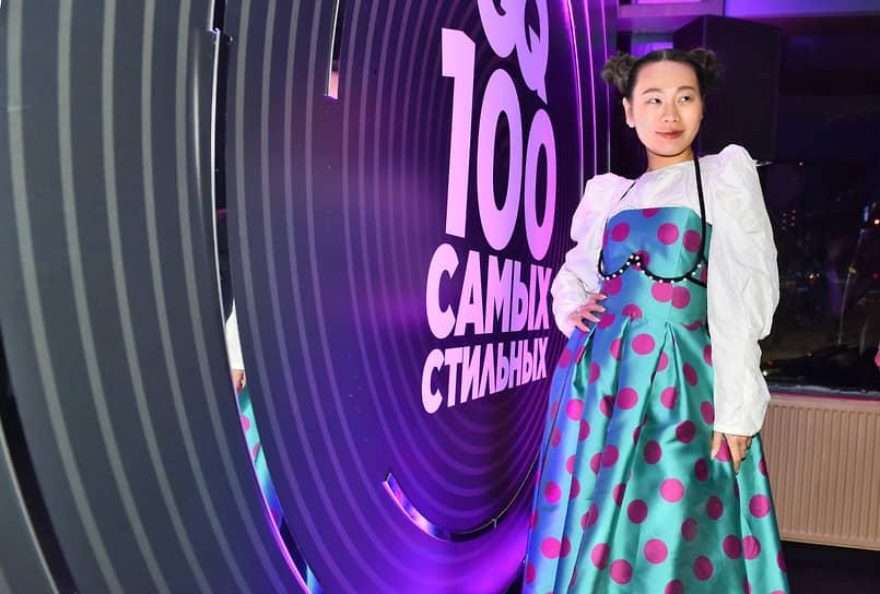 Актриса, режиссер Ян Гэ на коктейле по случаю выхода ежегодного рейтинга «100 самых стильных» по версии журнала GQ