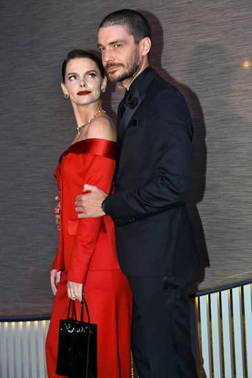 Актеры Елизавета Боярская и Максим Матвеев на коктейле по случаю выхода ежегодного рейтинга «100 самых стильных» по версии журнала GQ