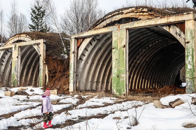 Заброшенные бункеры для хранения ракет С-25 «Беркут» второго кольца ПВО Москвы на территории бывшего военного городка Мишинка