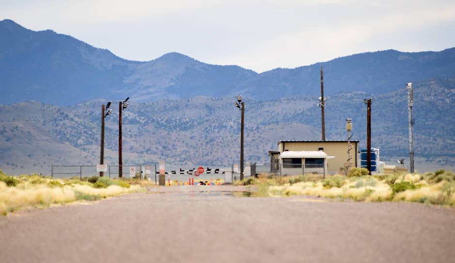 Въезд на территорию секретной американской военной базы «Зона 51» в Неваде