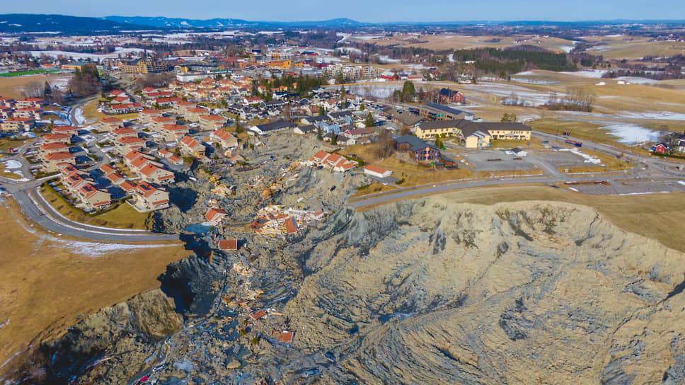 Аск, Норвегия. Последствия оползня