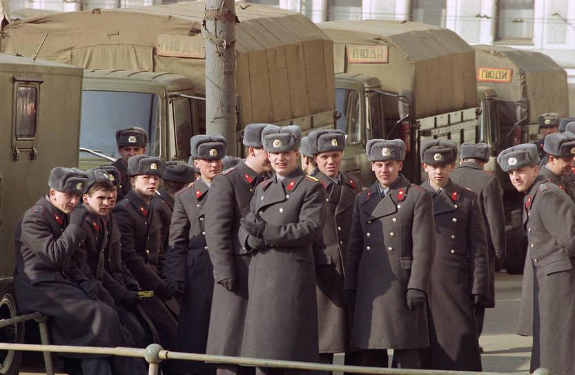 Порядок на митинге обеспечивали сотрудники милиции, о массовых задержаниях и беспорядках не сообщалось