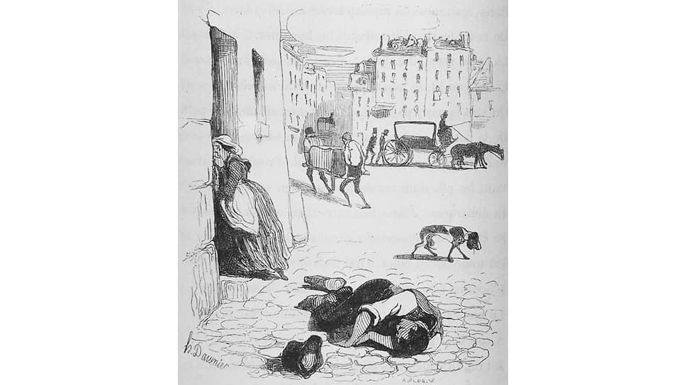 «Холера в париже». Антуан Франсуа Ипполит Фабр. 1840 год