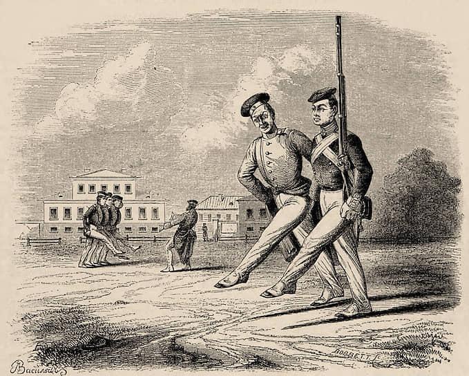 «Унтер-офицеры по фронту отличные выходили из учебных карабинерных полков, пополнявшихся все больше кантонистами»