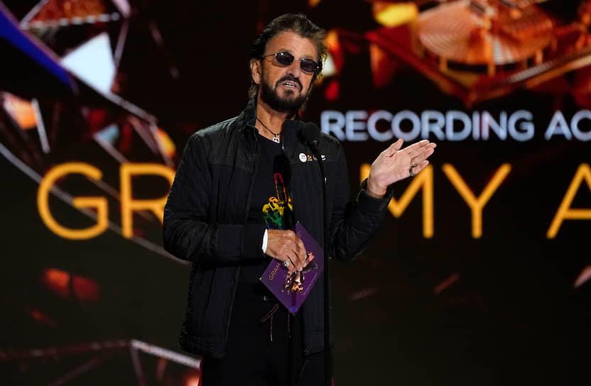 Британский музыкант, бывший участник группы The Beatles Ринго Старр во время объявления лауреатов премии