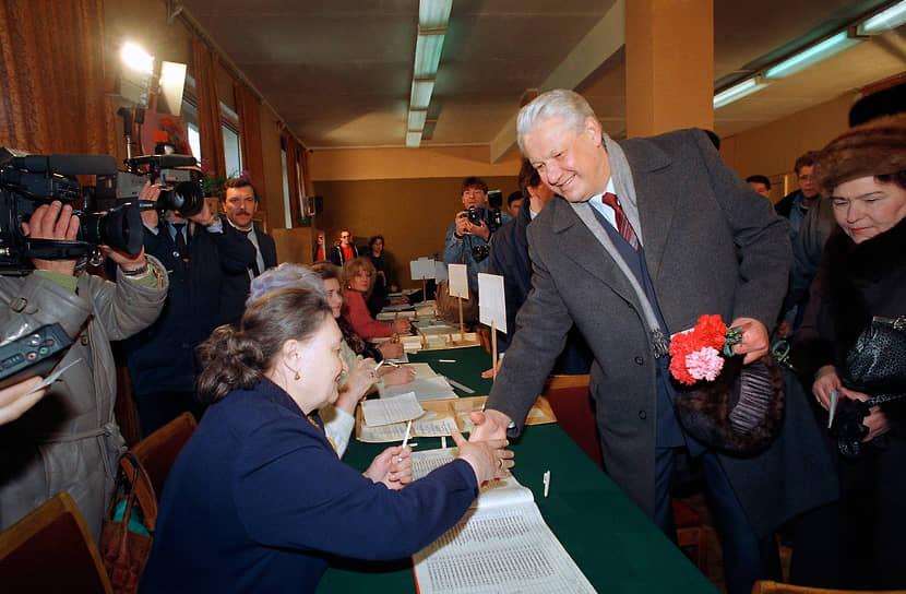 Через три месяца, 12 июня 1991 года, первым президентом РФ был избран Борис Ельцин (на фото)