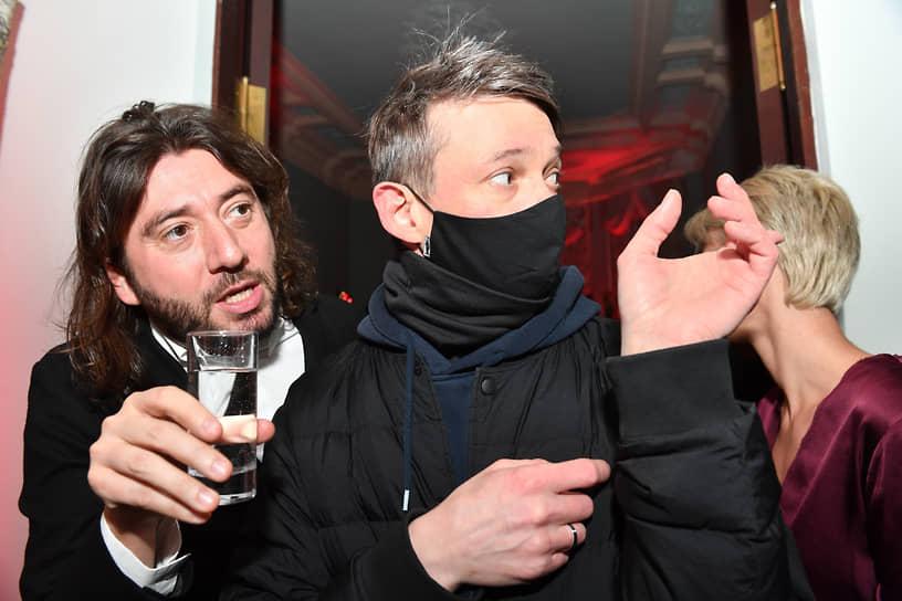 Продюсер Михаил Друян (слева) на премьере сериала «Вампиры средней полосы»