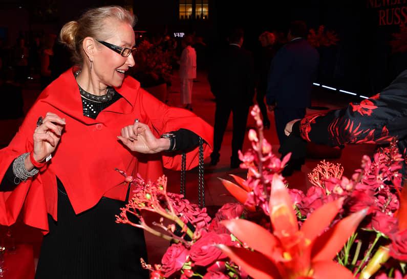 Директор Мультимедиа Арт Музея Ольга Свиблова во время церемонии вручения IX Ежегодной премии The Art Newspaper Russia