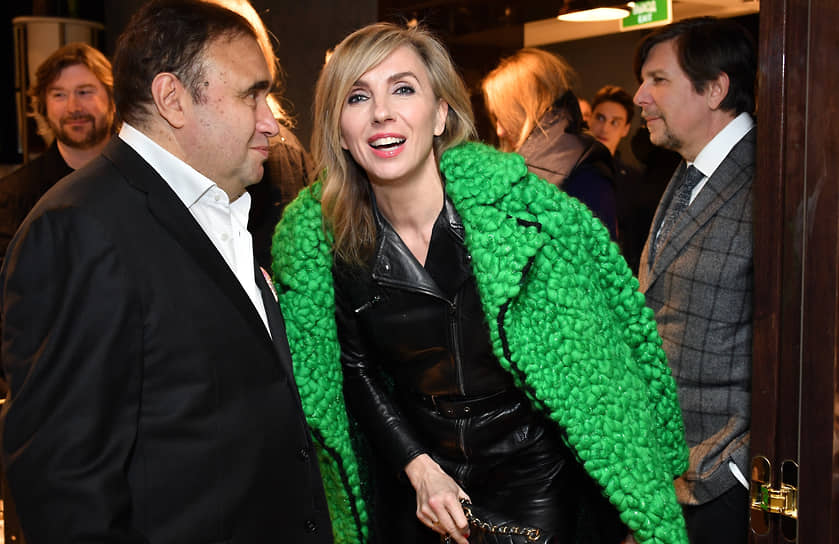 Ресторатор Александр Раппопорт (слева) и владелица компании PR-International Светлана Бондарчук на ужине в честь открытия ресторана «Павильон»