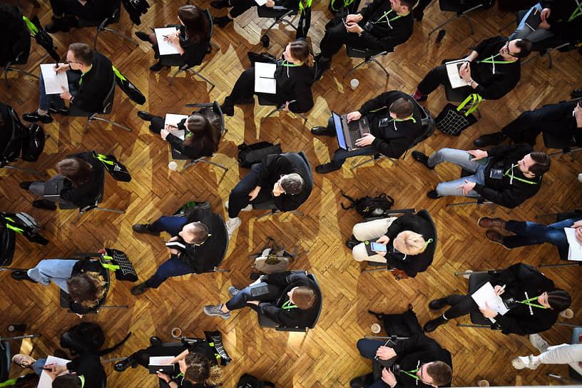 Москва, Россия. Церемония открытия третьего потока образовательной программы «Архитекторы.рф» в особняке на Волхонке
