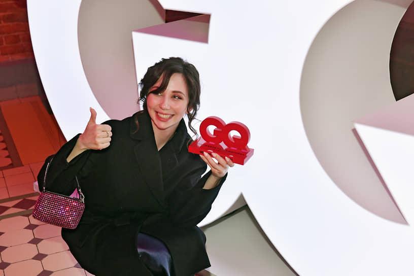 Фигуристка Елизавета Туктамышева во время церемонии вручения ежегодной премии GQ Super Women в театре «Школа современной пьесы»